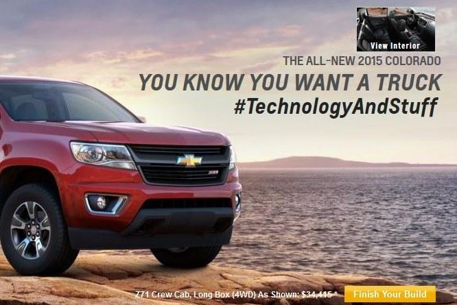 Chevrolet has made #TechnologyAndStuff the Colorado's tagline.