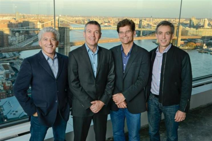 (Left to right): SS+K partner and co-founder, Lenny Stern, with M&C Saatchi, Worldwide CEO, Moray MacLennan, SS+K partners and co-founders Robert Shepardson and Mark Kaminsky.