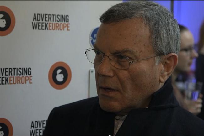 Martin Sorrell at Advertising Week Europe.