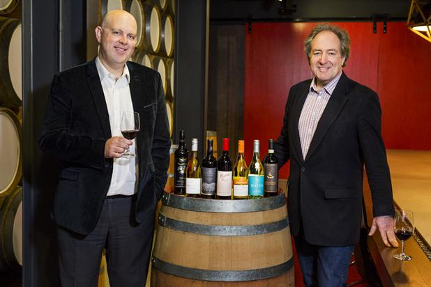 Treasury Wine Estate's Simon Marton with JWT's Toby Hoare.