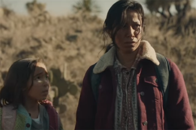 See the 2nd half of 84 Lumber's Super Bowl ad