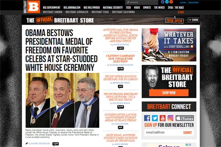 Breitbart barred by AppNexus for hate speech