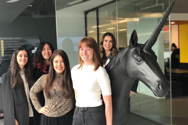 (L to R): Grace, Alina, Samantha, Sydney, Christina of Digitas and sister agency GroupeConnect