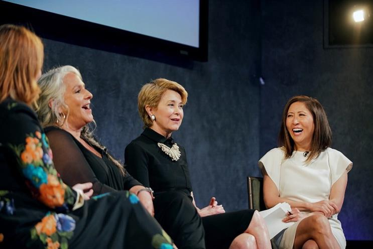 (L to R) Glamour editor-in-chief Samantha Barry, TV writer Marta Kauffman, CBS anchor Jane Pauley and NBCUniversal's Janice Min