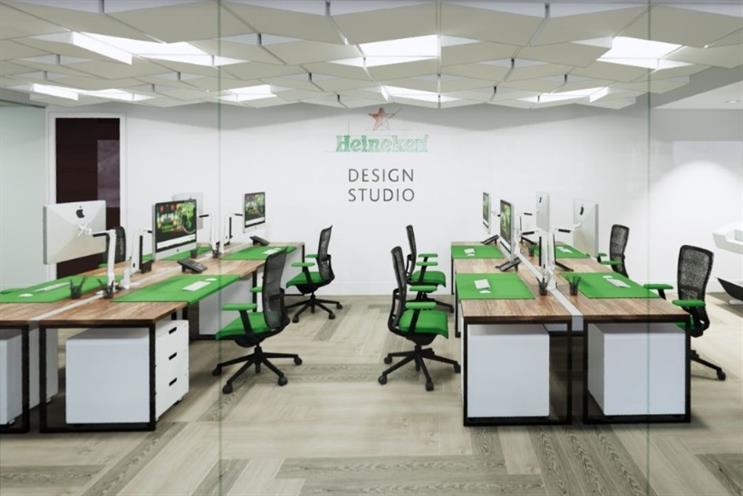 Rendering of what the new Heineken in-house studio will look like
