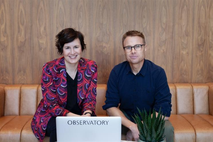 Linda Knight, Observatory's new CCO, and Jae Goodman, CEO, colleagues again after working at Wieden+Kennedy years ago.