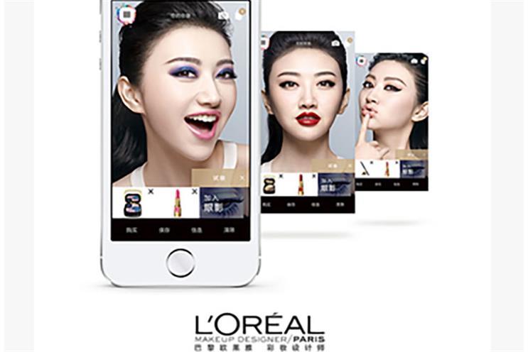 """L'Oréal's """"Makeup Genius"""" app."""
