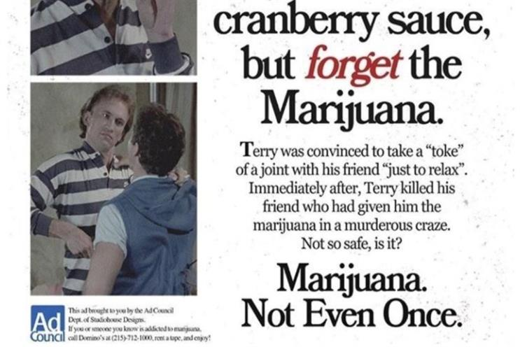 Don't believe that viral 'Ad Council' marijuana Thanksgiving PSA - it's fake