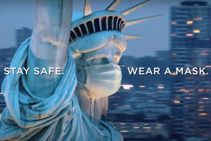 McCann's warrior cry to get Lady Liberty in a real mask