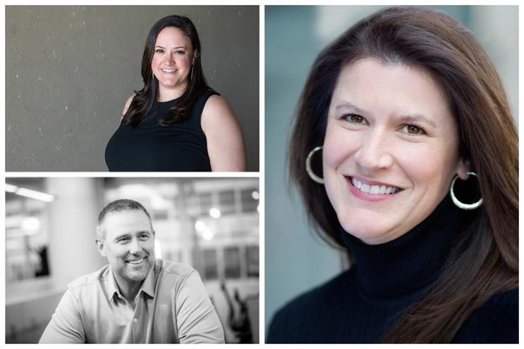 (Clockwise from top left) My Friend's Nephew director of insights and strategy Allison Brennan, Arc Worldwide's Elizabeth Harris, The Marketing Store's Brian Barthelt
