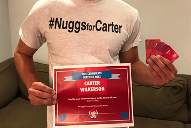 Wendy's coughs up the nuggs as #NuggsForCarter becomes most retweeted of all time