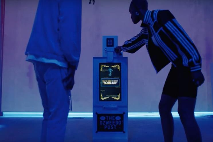 Adidas throws sneaker fans into the future with immersive stunt
