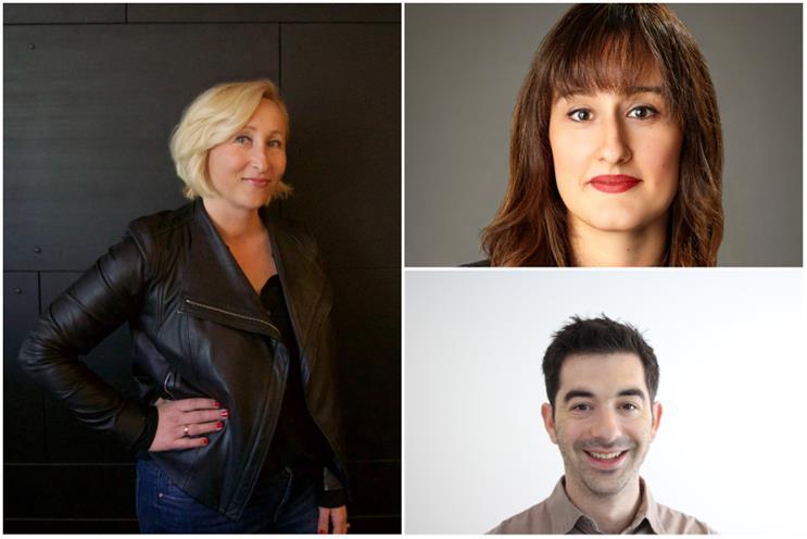Clockwise L to R: Pitch's co-CEOs Marisstella Marinkovic and Sara Bamossy, Possible's SVP Marc Blaskey
