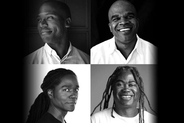 Clockwise from top left:  Keith Cartwright, Geoff Edwards, Jimmy Smith and Jayanta Jenkins.