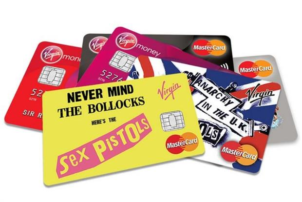 Virgin Money: sexing up finance with punk rock themed cards.