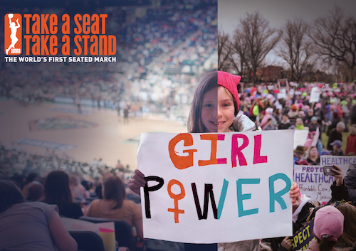 girl holding a sign that says Girl Power