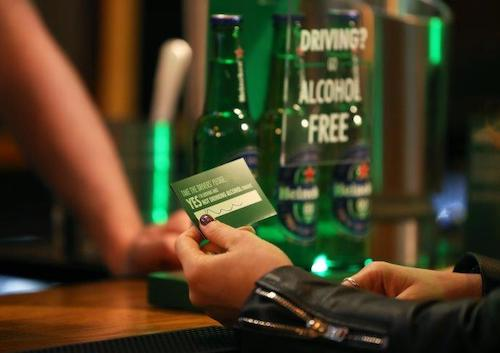 photo from the Heineken When you drive, never drink campaign
