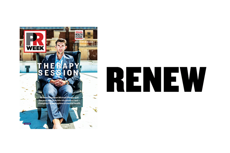 button to renew PRWeek subscription