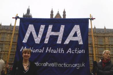 Dr Louise Irvine helps launch the National Health Action party (photo: Marina Soteriou)