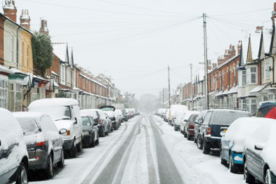 Nurses have braved icy conditions to continue to provide care (Photograph: iStock)