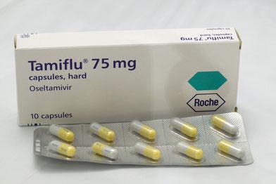 Tamiflu influenza drug capsules (Photograph: SPL)