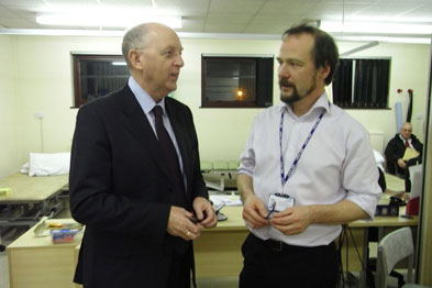 Dr Mike Bewick and Dr John Howarth at Cockermouth Community Hospital