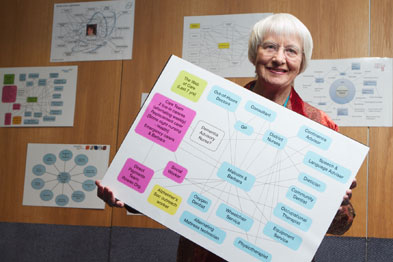 Barbara Pointon, whose husband had Alzheimer's, shared his 'web of care' and the challenges they faced in navigating it. (Photograph: Sam Friedrich)