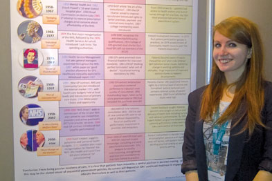 Charlotte Wilson with her poster on display at the RCGP conference