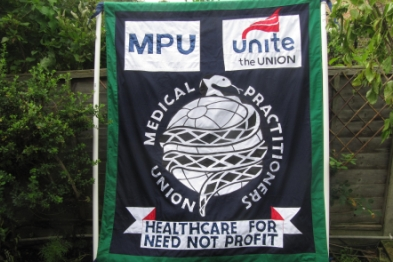MPU banner: GPs will join march to protest against Health Act