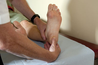 The heel may be tender on examination