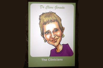 RCGP chairwoman Professor Clare Gerada in playing card form (Pictures: Aoife Lynch)