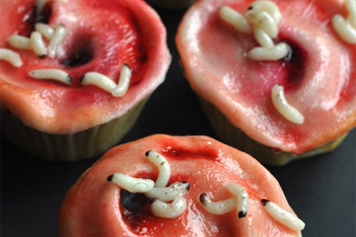 Gruesome maggot cakes anyone? yum yum