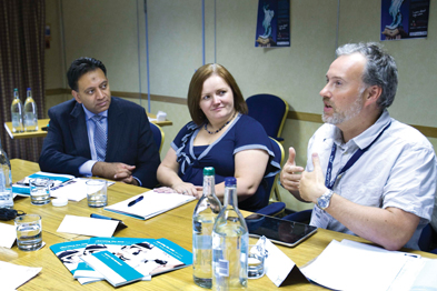 From left to right: Dr Rubin Minhas, Katrina Venerus and Dr Andrew Parson (All photographs: W Fry)