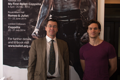 Dr James (left) with Max Westwell, currently appearing in Le Corsaire