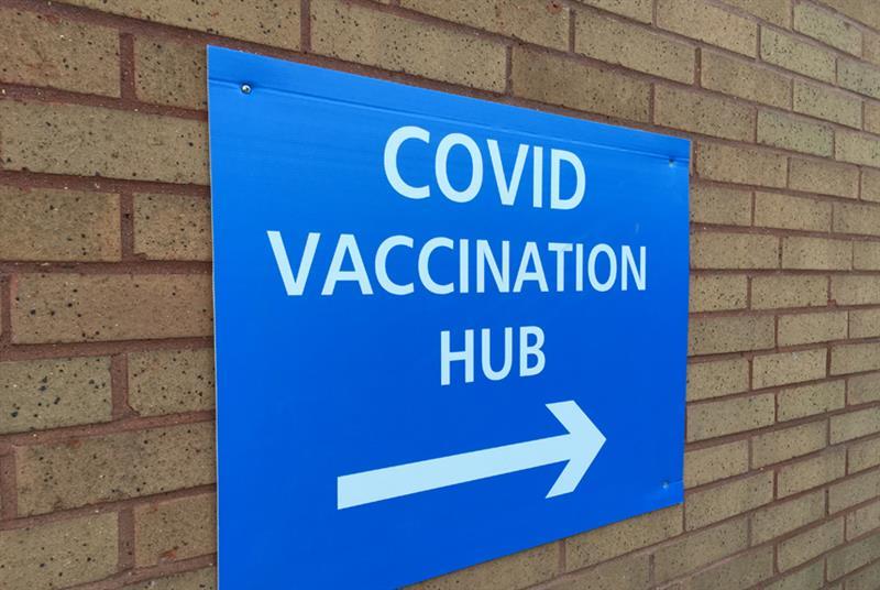 COVID vaccination site