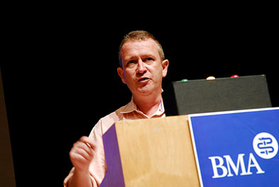 Dr Paddy Glackin called on the BMA to continue to call for the Health Bill's withdrawal