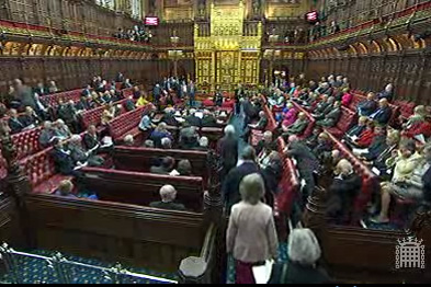 The Health Bill is being debated in the House of Lords (Photograph: www.parliament.co.uk)