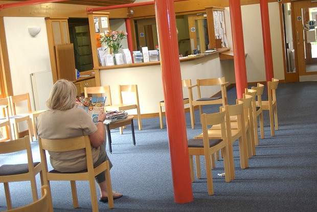 Waiting room: volunteers could support GP practices (Photo: Simon Barber)