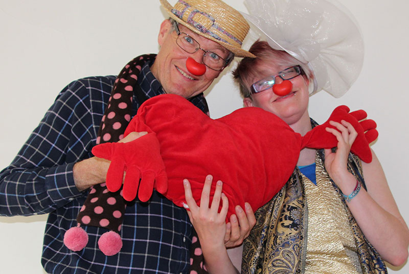 GP and clown improvisation facilitator Dr David Wheeler (left) pic: author image)