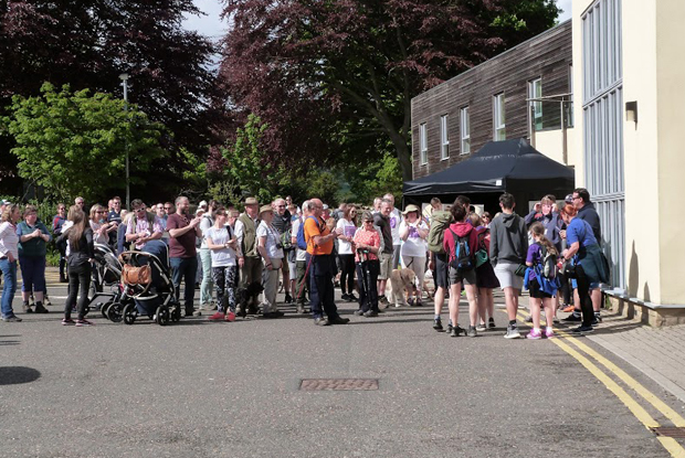 Patients gather at The Rothbury Practice