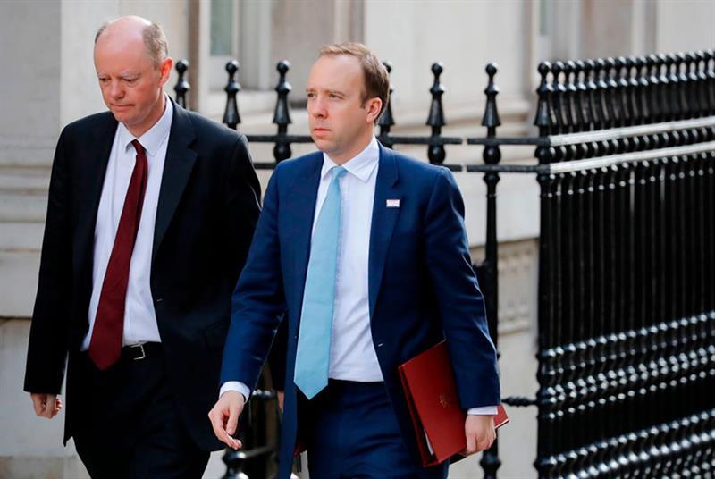 The new organisation will report jointly to England CMO Professor Chris Whitty (left) and health secretary Matt Hancock (Photo: Tolga Akmen/Getty Images)