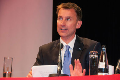 Jeremy Hunt: faced tough questions from GPs