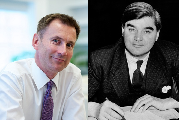 Jeremy Hunt and Aneurin Bevan (Photos: JH Lancy (L) / David Cole/Alamy Stock Photo (R))