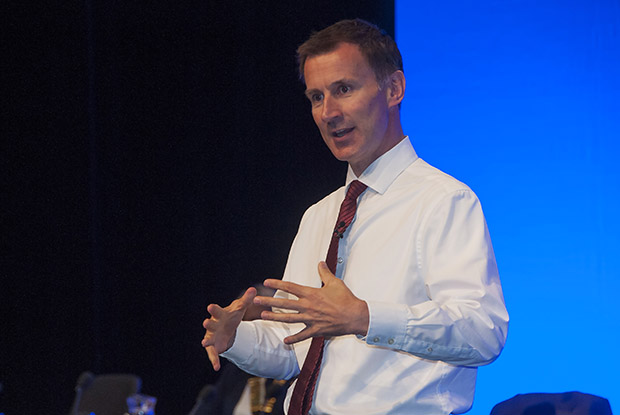Health secretary Jeremy Hunt at the RCGP annual conference (Photo: Pete Hill)