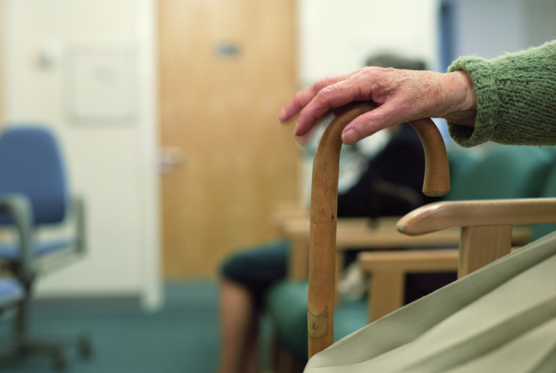 The test assesses patient standing up,walking and sitting down