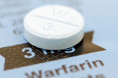 Warfarin may increase stroke risk in the first week after treatment begins (Photo: GEOFF KIDD/SCIENCE PHOTO LIBRARY)