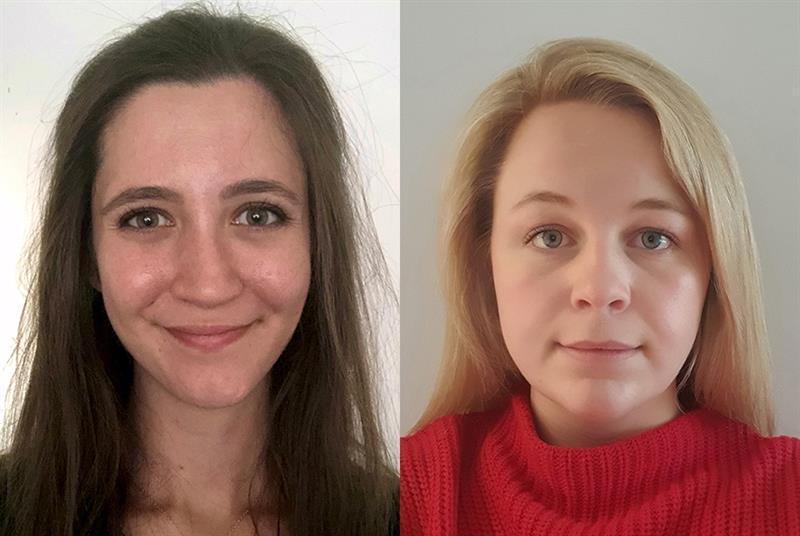 Leila Ellis (left) and Laura Hulmes, scholars at the Healthcare Leadership Academy