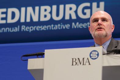 BMA chairman Dr Mark Porter: listen to clinicians (photo: Tony Marsh/BMA)