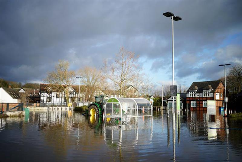 Flooding in Northwich triggered by Storm Christoph (Photo: Christopher Furlong/Getty Images)