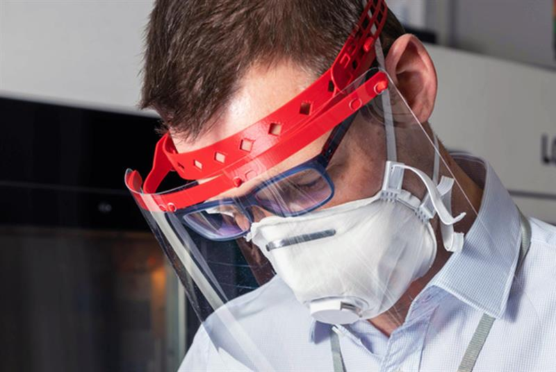Face visors produced to protect NHS staff (Photo: BAE Systems)